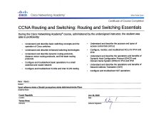 CCNA Routing and Switching: Routing and Switching Essentials