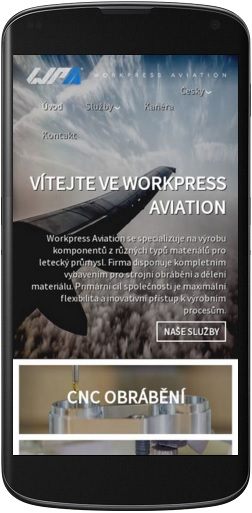 Mobilní webdesign Workpress Aviation